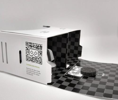 VR Cardboard | mit Aufkleber